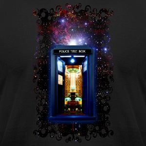 Tardis bigger on the inside - Men's T-Shirt by American Apparel
