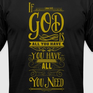 God is all - Men's T-Shirt by American Apparel