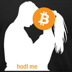 Bitcoin Hodl Me - Men's - Men's T-Shirt by American Apparel