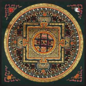Kalachakra Mandala - Men's T-Shirt by American Apparel