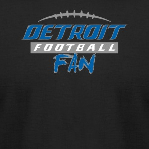 Detroit Football Fan - Men's T-Shirt by American Apparel