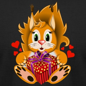 squirrel-Valentines Day-gift-wildlife-heart - Men's T-Shirt by American Apparel