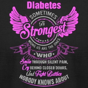 DIABETES THE STRONGEST - Men's T-Shirt by American Apparel