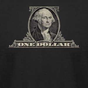 One Dollar Bill - George Washington - Men's T-Shirt by American Apparel