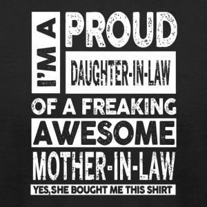 I'm A Proud Brother In Law Of A Freaking Awesome - Men's T-Shirt by American Apparel
