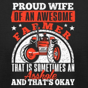 Wife proud of mechanic - Men's T-Shirt by American Apparel