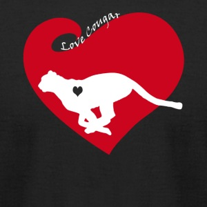 Love Cougar Tee Shirt - Men's T-Shirt by American Apparel