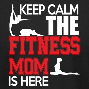 Keep Calm The Fitness Mom Is Here T Shirt - Men's T-Shirt by American Apparel
