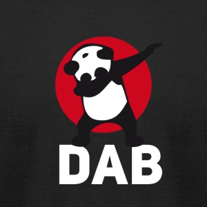 dab panda red DAB panda dabbing football touchdown - Men's T-Shirt by American Apparel