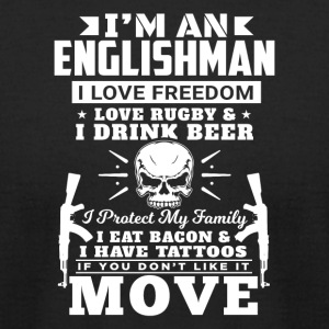 I'M AN ENGLISHMAN - LOVE RUGBY - Men's T-Shirt by American Apparel