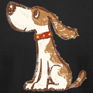 Hound Sitting Dog - Men's T-Shirt by American Apparel