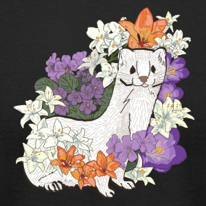 Weasel & Lilies & Violets - Men's T-Shirt by American Apparel