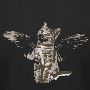 Angel Cat - Men's T-Shirt by American Apparel