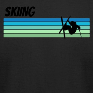Retro Skiing - Men's T-Shirt by American Apparel