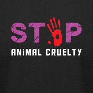 Stop animal cruelty - Men's T-Shirt by American Apparel
