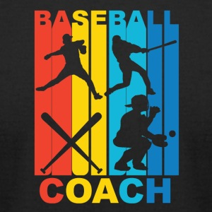 Vintage Baseball Coach Graphic - Men's T-Shirt by American Apparel