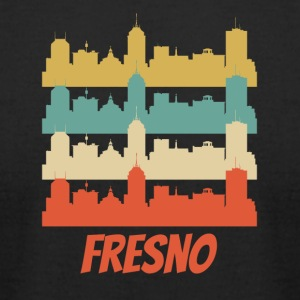 Retro Fresno CA Skyline Pop Art - Men's T-Shirt by American Apparel