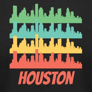 Retro Houston TX Skyline Pop Art - Men's T-Shirt by American Apparel