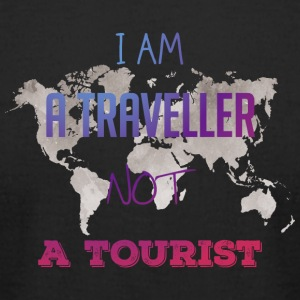 I am a traveller not a tourist - Men's T-Shirt by American Apparel