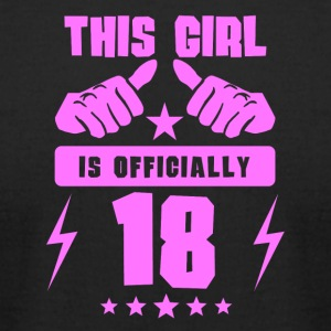 This Girl Is Officially 18 - Men's T-Shirt by American Apparel
