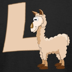 L Is For Llama - Men's T-Shirt by American Apparel