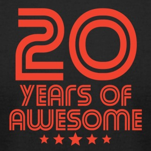 20 Years Of Awesome 20th Birthday - Men's T-Shirt by American Apparel