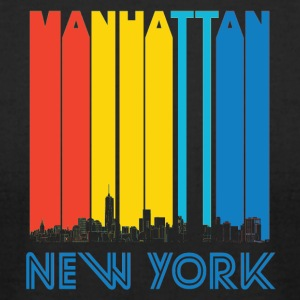 Retro Manhattan New York Skyline - Men's T-Shirt by American Apparel