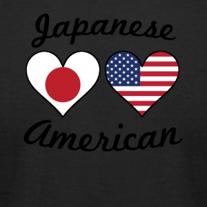 Japanese American Flag Hearts - Men's T-Shirt by American Apparel