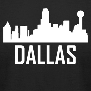 Dallas Texas City Skyline - Men's T-Shirt by American Apparel