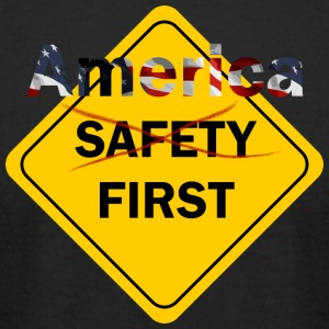 Safety umm America First Yellow - Men's T-Shirt by American Apparel