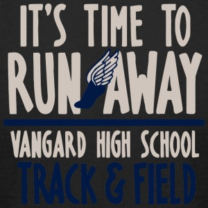 It s Time To Run Away Vangard High School Track - Men's T-Shirt by American Apparel