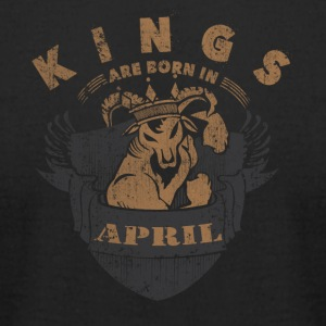 Kings are born in April - Men's T-Shirt by American Apparel