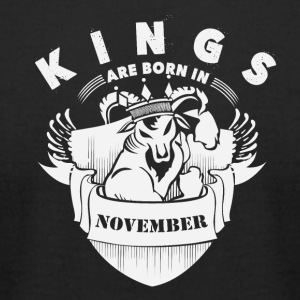 Kings are born in November - Men's T-Shirt by American Apparel