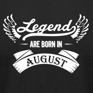 Legends are born in August - Men's T-Shirt by American Apparel