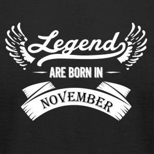 Legends are born in November - Men's T-Shirt by American Apparel