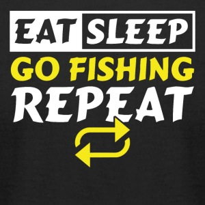 Eat Sleep Go Fishing Repeat - Men's T-Shirt by American Apparel