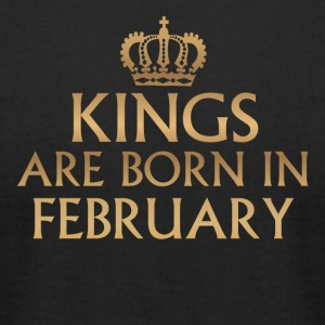 Kings are Born in February - Men's T-Shirt by American Apparel
