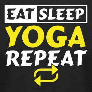 Eat Sleep Repeat Yoga - Men's T-Shirt by American Apparel