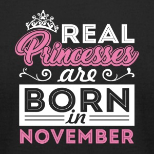 Real Princesses are Born in November - Men's T-Shirt by American Apparel