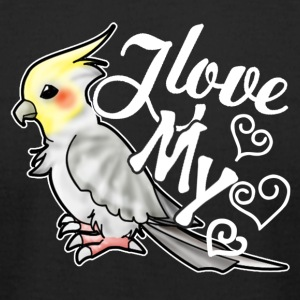 I Love My Cockatiel Shirt - Men's T-Shirt by American Apparel