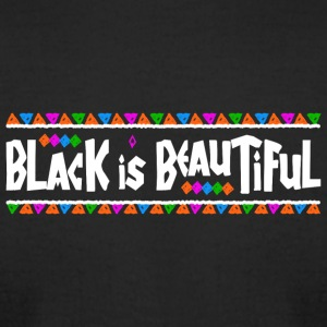 Black Is Beautiful (White Letters) - Men's T-Shirt by American Apparel