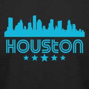 Retro Houston Skyline - Men's T-Shirt by American Apparel
