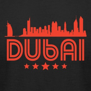 Retro Dubai Skyline - Men's T-Shirt by American Apparel