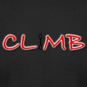 Climb Female and Male Climbing T-Shirt - Men's T-Shirt by American Apparel