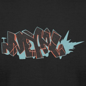 nepal_graffiti_blue_back - Men's T-Shirt by American Apparel