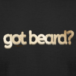 got beard?-Furry Fun-Bear Pride-Polar Bear - Men's T-Shirt by American Apparel