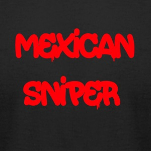 Mexican Sniper Graffiti - Men's T-Shirt by American Apparel