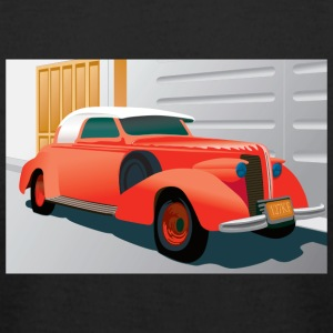 RED BUICK 1938 SPECIAL CONVERTIBLE - Men's T-Shirt by American Apparel