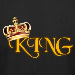 GOLD KING CROWN WITH YELLOW LETTERING - Men's T-Shirt by American Apparel