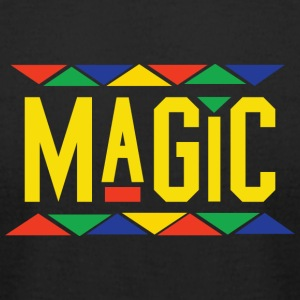 Magic - Tribal Design (Yellow Letters) - Men's T-Shirt by American Apparel